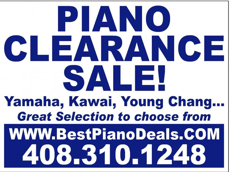 Silicon valley and bay area piano Sale